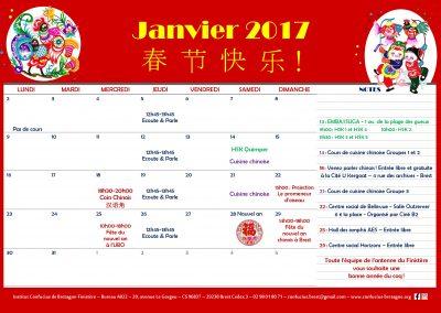Planning janvier 2017