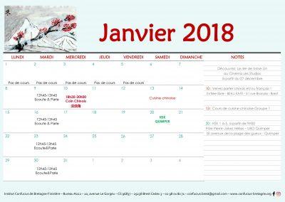 Planning Janvier 2018