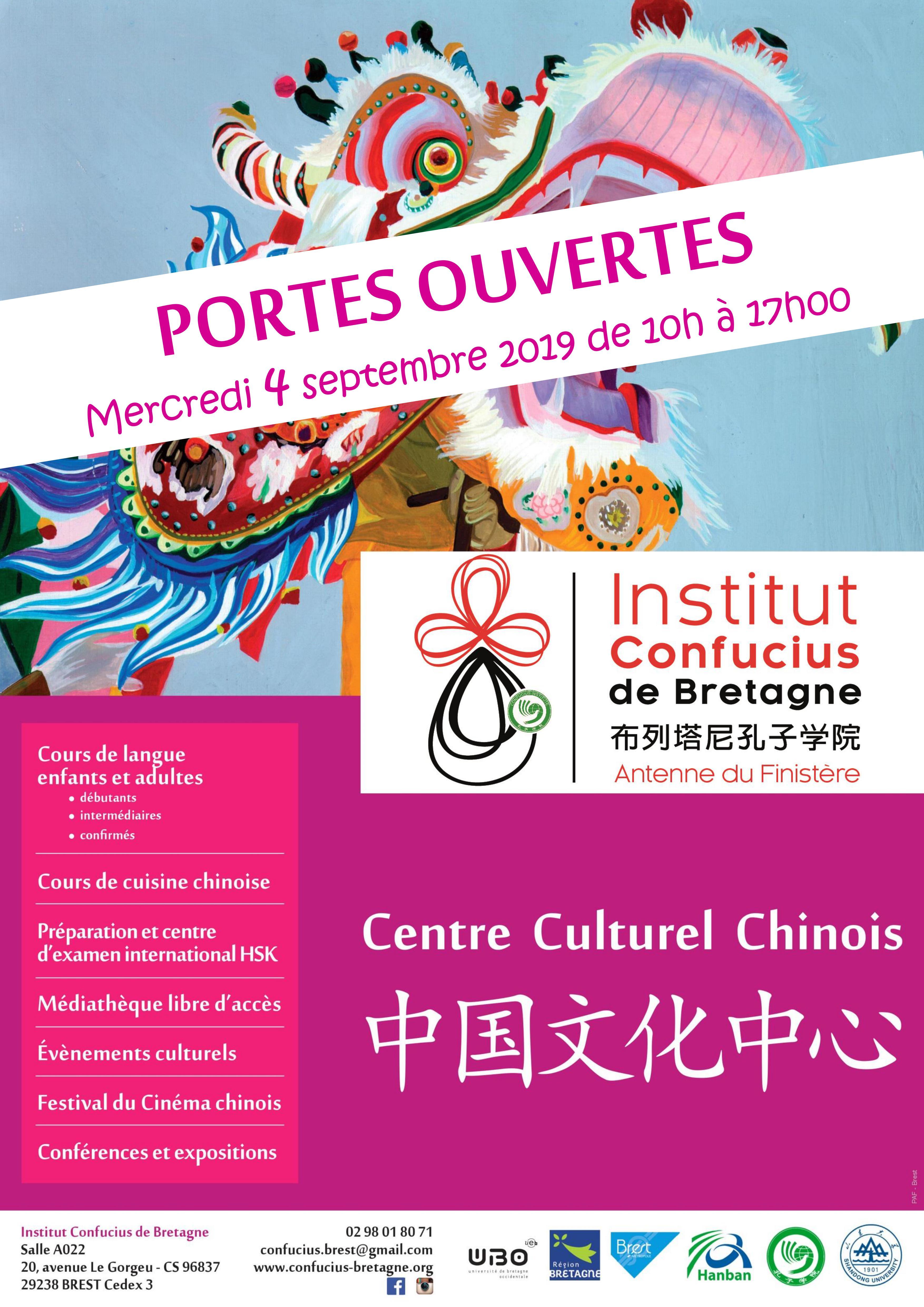 Portes Ouvertes Institut Confucius De Bretagne Antenne Du